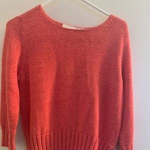 Liz Claiborne Size M Pink Sweater with 3/4 Sleeves
